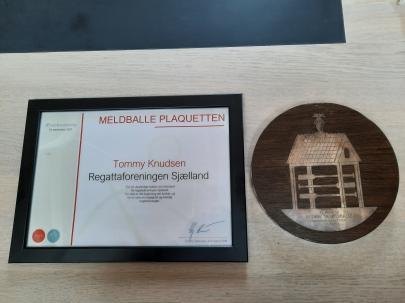 Regattaforeningen Sjælland 2021 Meldballe plaquette 1